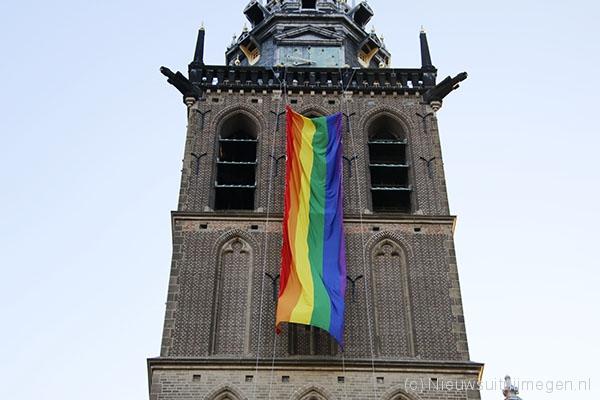 Overspoel Nijmegen met roze én regenboog | 21 juli 2021